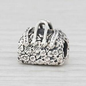 New Pandora Disney Mary Poppins Flower Bag Charm 797506 Sterling Silver Bead