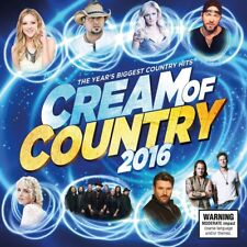 CREAM OF COUNTRY 2016 CD/DVD NEW PAL R0 Jason Aldean Brad Paisley Lee Brice