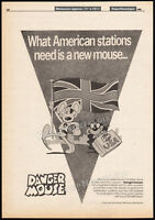 DANGER MOUSE__Original 1986 Trade print AD / poster__animated TV series promo