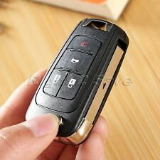 Replacement Remote Flip Keyless Entry Key Fob Shell Case for CHEVROLET 4 Button