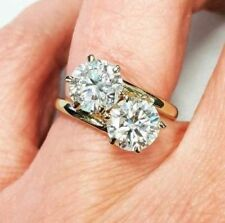 3.60Ct White Round Stone Moissanite Solitaire Engagement Ring In 925 Silver