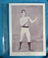 Original 1894 Antique print Portrait Gallery of pugilistes Tommy Warren Boxer