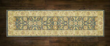 Afghan Ziegler Wool like Blue Antique Traditional Hallway Runner 67x230cm 30%OFF