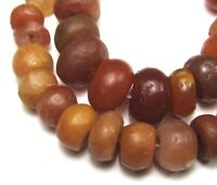 "7"" STRAND OF 35 RARE SMALL STUNNING ANCIENT CARNELIAN AGATE MALI BEADS"