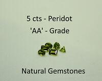 Peridot Loose Natural 5 Carats Grade AA
