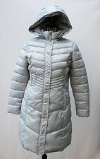 Weatherproof Women's Coat Hooded quilted, Silver Gray, Size 14, New