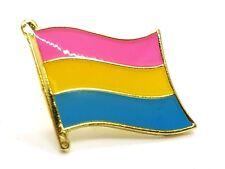Enamel Pin Badge Pansexual Pan-sexual Pride Wavy Flag Gold Plated Lgbtq