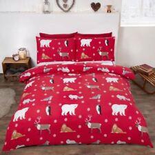 Linge de lit et ensembles Noël rouge en 100% coton