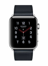 Apple Watch Hermès 42mm Stainless Steel Case with Indigo Swift Leather Single Tour Classic Buckle (GPS + Cellular) - (MQMT2X/A)