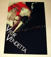 "V for Vendetta Cast X3 PP signiert Poster 12""X8"" N2"