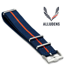 PREMIUM Watch Strap Band Army Military Divers Nylon Mens 20mm NAVY RED RRP £40