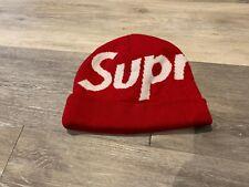 SUPREME COTTON CASHMERE RED WHITE HAT SKULL CAP