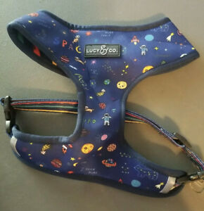 Lucy & Co Space Doodle Reversible Dog Harness (XL) EUC