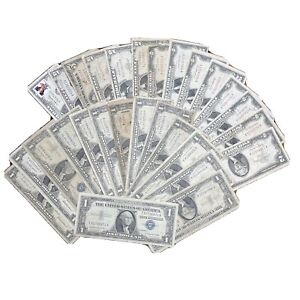 $57 Face Value Old United States Silver Certificates And More Circ-uncirculated