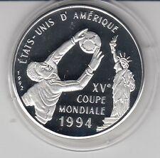 Kongo  500 Fr.  1992  Fußball WM 1994    Silber  PP
