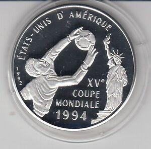 Congo 500 Fr. 1992 Football World Cup 1994 Silver Pp