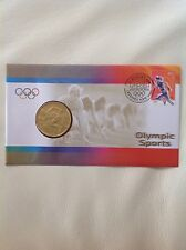 2000 - Australia - Olympic Sports (Athletics) - Stamp and Coin Cover PNC