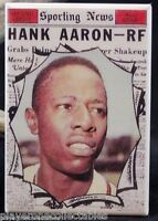 Hank Aaron Sporting News - Fridge / Locker Magnet. MLB Atlanta Braves Baseball