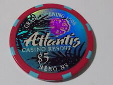 New ListingAtlantis Casino Resort $5 hotel casino gaming poker chip ~ Reno , Nv