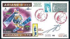 SPACE COVER FRANCE GUYANE KOUROU ARIANE V 176  cachet rouge ESA SEP ANNEE 2007