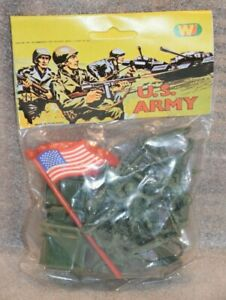 70's/80's Plastic Toy Soldier US Army Bag Made in Hong Kong New and Sealed