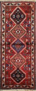 Geometric Tribal Traditional Hand-knotted Runner Rug Wool Oriental Carpet 2'x5'