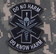 Mil-Spec Monkey Do No Harm Spartan Morale Patch SWAT Hook Back Patch