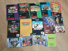 Over 20x SNES/Nintendo 64/Game Boy/ Master & Mega Drive Manuals, From £2.99 Each