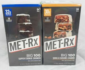 Lot of 2!!! Met-rx big 100 colossal protein bars 6 Boxes 3 Flavors-24 Bars