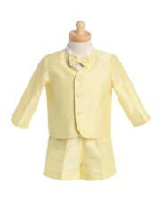 Baby Boys Yellow Eton Suit with Shorts Ideal Summer Wedding/Christening 12/18M
