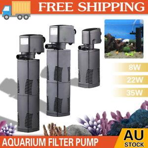 ECO 3 in 1 Fish Tank Aquarium Submersible Water Power Filter Pump 600-1600L/H