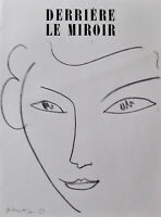 MATISSE - DERRIERE LE MIROIR LITHOGRAPH #46 (COVER ONLY)  - 1952 - FREE SHIP US