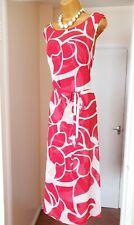 JASPER CONRAN Red White Chiffon Floaty Summer Holiday Tea Party Maxi Dress - 16