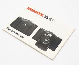 Minox 35 GT Owner's Manual - UK Dealer
