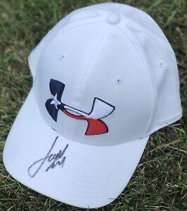 PSA/DNA Masters Champ JORDAN SPIETH Signed Autographed Flag UA Hat COA! AUGUSTA