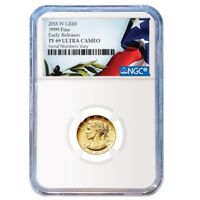 2018 W 1/10 oz $10 American Liberty Proof Gold Coin NGC PF 69 Early Releases