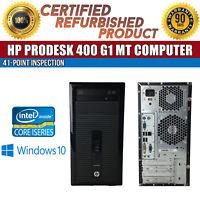 HP ProDesk 400 G1 MT Intel i5 4 GB RAM 500 GB HDD Win 10 USB B Grade Desktop