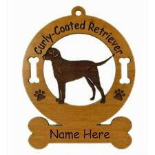 Curly Coated Retriever Stand Dog Ornament Personalized With Your Dogs Name 3025