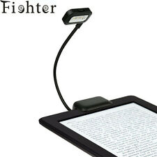 Dual LED Clip On Reading Book Bright Light Lamp For Kindle Tablet Laptops