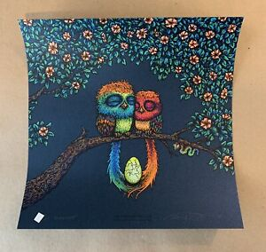 Marq Spusta TWO BIRDS AND THEIR EGG FULL SIZE MIDNIGHT CLOSED EYES Print #/65