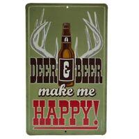 Drink Fort Pitt Beer Running Waiter Reproduction Design Aluminum Sign