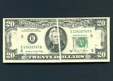 1981 United States Bank Note ERROR Printed Over Fold S/N E12620767B