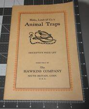1925 Org Blake Lamb & Co ANIMAL TRAPS Illustrated SALES Catalog SOUTH BRITAIN CT