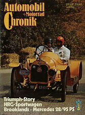 Automobil Motorrad Chronik 6 80 1980 HRG Büssing Lastwagen Triumph TR2 Standard