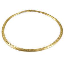 Klassisches Echtgold Collier Kette 750 Gold Halskette matt satiniert Necklace