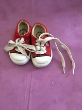 Ralph Lauren Polo Todder Shoes 4 1/2 Red And white