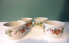 Fabulous NEW Set of 4 RAMEKINS by WEDGWOOD - QUINCE Pattern - Made in England