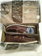 NEW WITH BOX TIMBERLAND JUNIORS BROWN SEABURY BOAT SHOES SIZE 7