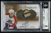 2013-14 Fleer Showcase Jonathan Huberdeau RPA Patch Auto Rookie Card #/175 BGS 9