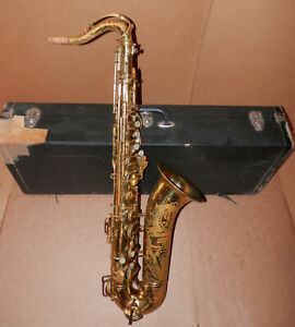 "Vintage 1949 Buescher Aristocrat ""Big B"" Tenor Sax Saxophone !"